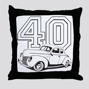40 ford white Throw Pillow