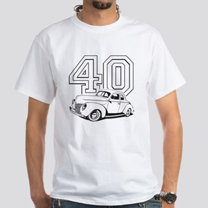 40 ford white White T-Shirt