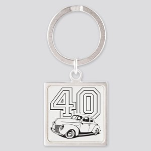 40 ford white Square Keychain
