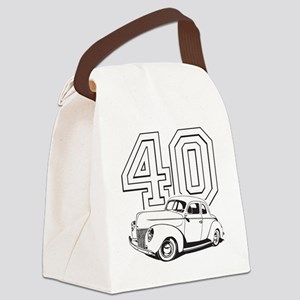 40 ford white Canvas Lunch Bag