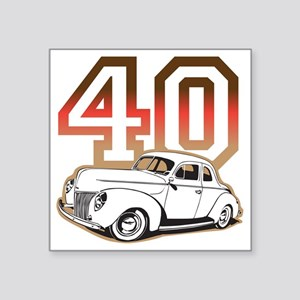 "40 ford color Square Sticker 3"" x 3"""