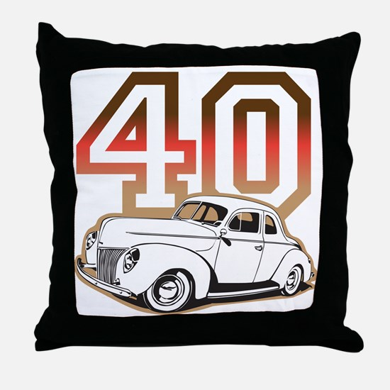 40 ford color Throw Pillow