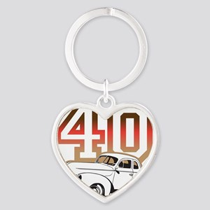 40 ford color Heart Keychain