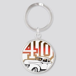 40 ford color Round Keychain