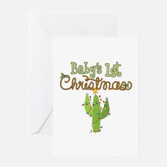 Western 1st Christmas Greeting Card