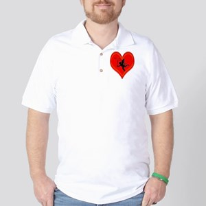 cupid whip me valentine Golf Shirt