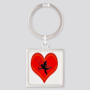 cupid whip me valentine Square Keychain