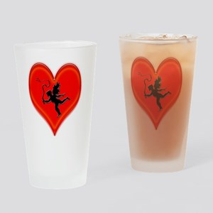 cupid whip me valentine Drinking Glass