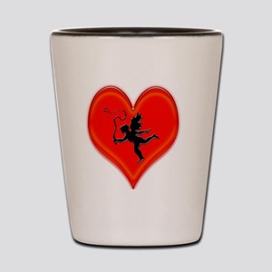 cupid whip me valentine Shot Glass