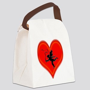 cupid whip me valentine Canvas Lunch Bag