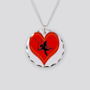 cupid whip me valentine Necklace Circle Charm