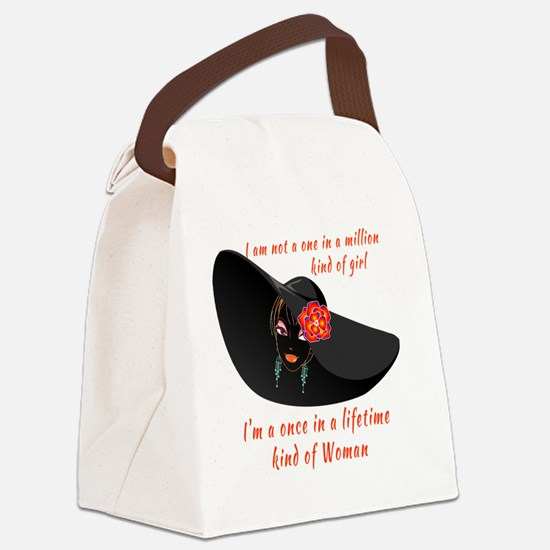 Once in a Lifetime Woman Canvas Lunch Bag