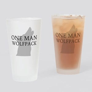 ONE MAN PACK WHITE Drinking Glass