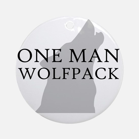 ONE MAN PACK WHITE Round Ornament