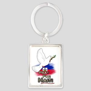 Pray for Haiti Portrait Keychain