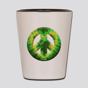 Green Yellow Tie Dye Shot Glass