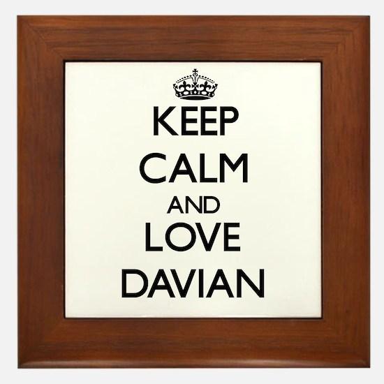 Keep Calm and Love Davian Framed Tile