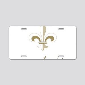 nola_fdl_goldbk Aluminum License Plate