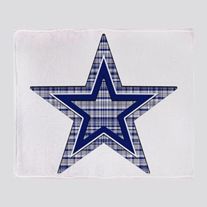 Blue and Silver Plaid Throw Blanket