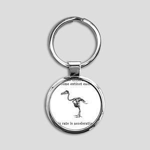 extinct Round Keychain