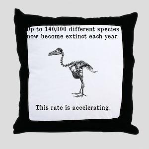 extinct Throw Pillow