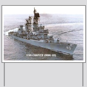 coontz ddg small poster Yard Sign