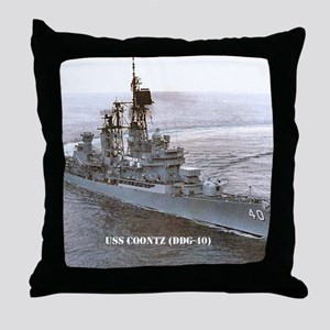 coontz ddg small poster Throw Pillow