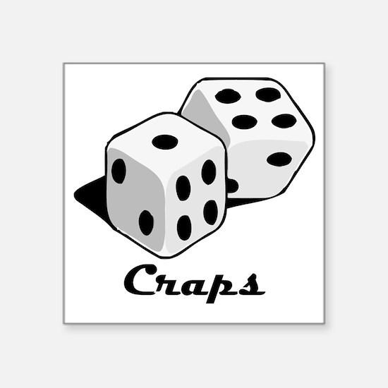 """Craps Square Sticker 3"""" x 3"""""""