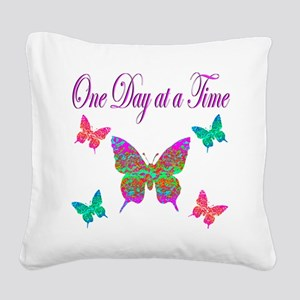 ONE DAY AT A TIME Square Canvas Pillow