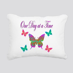 ONE DAY AT A TIME Rectangular Canvas Pillow