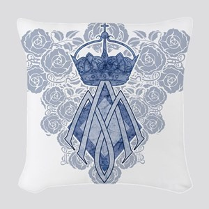 MAmonogramINKCP Woven Throw Pillow