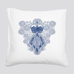 MAmonogramINKCP Square Canvas Pillow