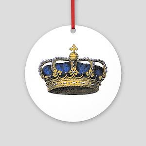 Blue Crown Ornament (Round)