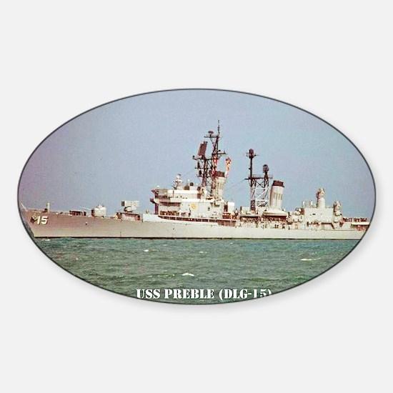 preble dlg postcard Sticker (Oval)