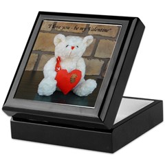 Valentine Teddy Bear Keepsake Box