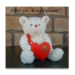 Valentine Teddy Bear Tile Coaster