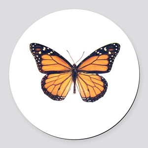 Vintage Butterfly Round Car Magnet