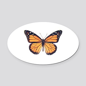 Vintage Butterfly Oval Car Magnet