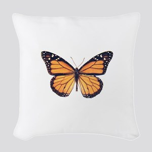 Vintage Butterfly Woven Throw Pillow