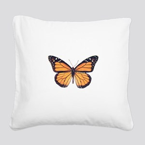 Vintage Butterfly Square Canvas Pillow