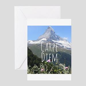Carpe Diem - Climb a Mountain Greeting Cards