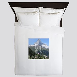 Carpe Diem - Climb a Mountain Queen Duvet