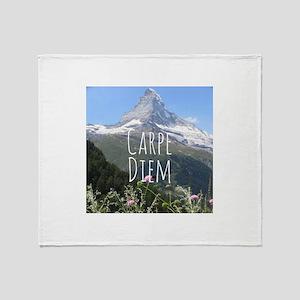 Carpe Diem - Climb a Mountain Throw Blanket