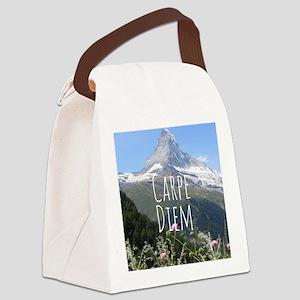 Carpe Diem - Climb a Mountain Canvas Lunch Bag