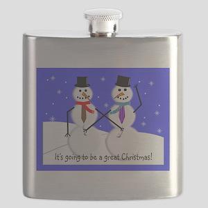 Gay Men Snowmen 2 Flask