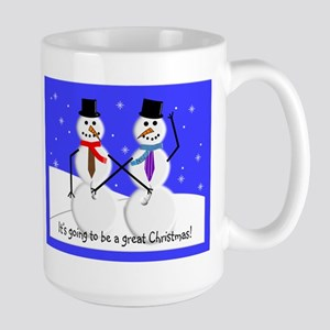 Gay Men Snowmen 2 Mugs