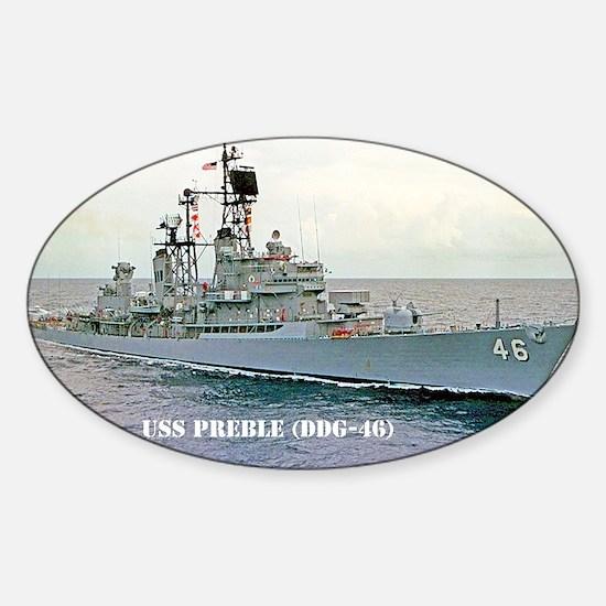 preble ddg framed pane print Sticker (Oval)