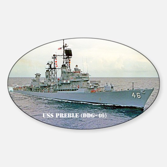 preble ddg post card Sticker (Oval)
