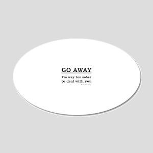 awaysober 20x12 Oval Wall Decal