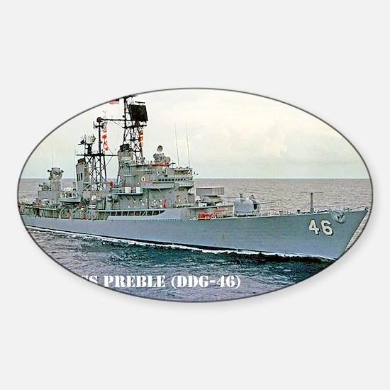 preble ddg small poster Sticker (Oval)
